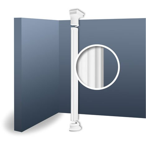 Half Column Complete Set Capital Shaft Plinth Stucco decoration Orac Decor KD5H LUXXUS classic light white 2.42