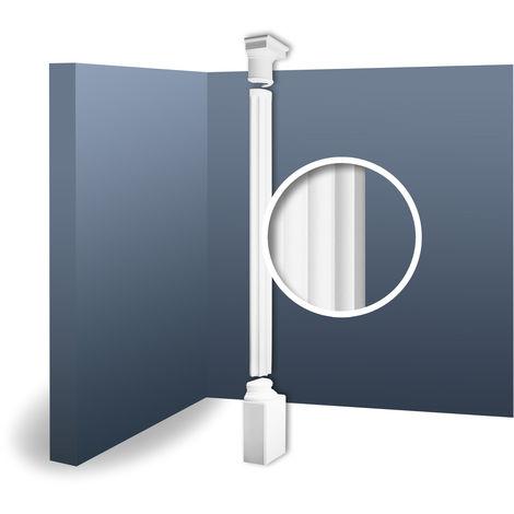 Half Column Complete Set Capital Shaft Plinth Stucco decoration Orac Decor KD6H LUXXUS classic light white 2.87 m