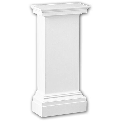 Half column pedestal 118001 Profhome Column Decorative Element Neo-Classicism style white