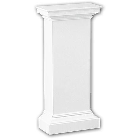 Half column pedestal 118002 Profhome Column Decorative Element Doric style white