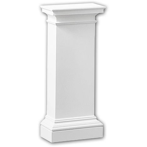 Half column pedestal 118003 Profhome Column Decorative Element Doric style white