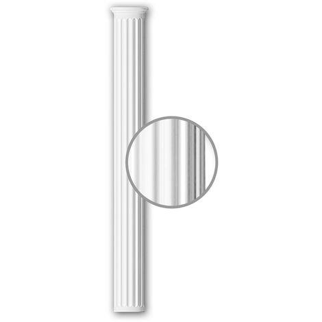 Half Column Shaft 116011 Profhome Column Decorative Element Neo-Classicism style white
