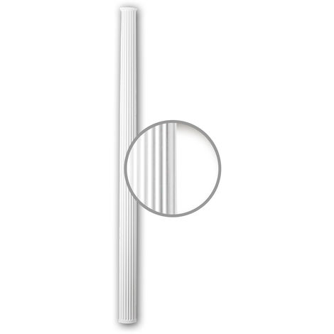 Half Column Shaft 116071 Profhome Column Decorative Element Neo-Classicism style white