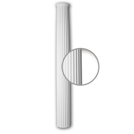 Half column shaft Profhome 416102 Exterior trim Column Facade element Doric style white