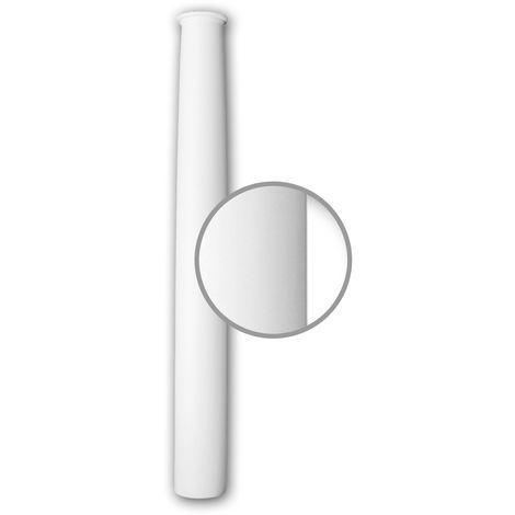 Half column shaft Profhome 416202 Exterior trim Column Facade element Ionic style white