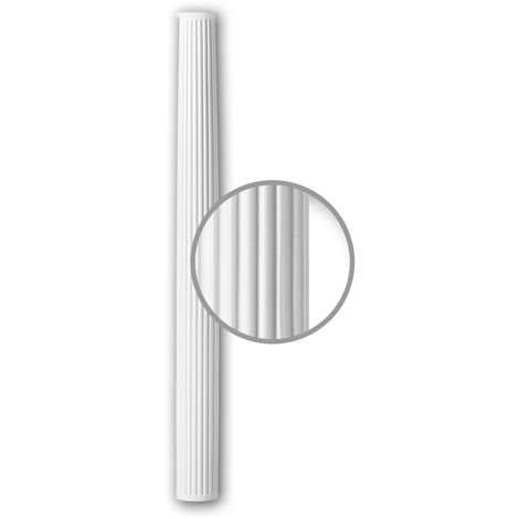 Half column shaft Profhome 416301 Exterior trim Column Facade element Corinthian style white