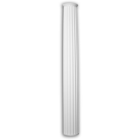 Half column shaft Profhome 446201 Exterior trim Column Facade element Ionic style white