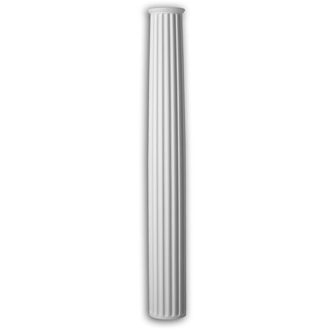 Half column shaft Profhome 446301 Exterior trim Column Facade element Corinthian style white