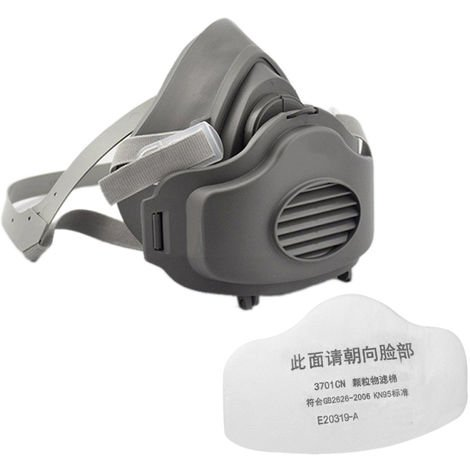 Half Face Gas Mask Respiratory PM2.5 Dust-proof Masks Respirator Anti Industrial Construction Dust Haze with a Filter Cotton