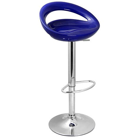 Half Moon Retro Adjustable Breakfast Bar Stool - Blue Blue