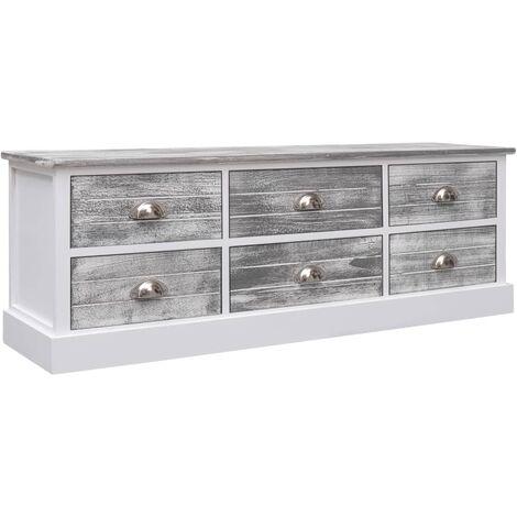 Hall Bench Grey 115x30x40 cm Wood - Grey