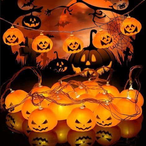 Halloween Decor Pumpkin String Lights,Waterproof 3m 20LED Halloween Outdoor String Lights