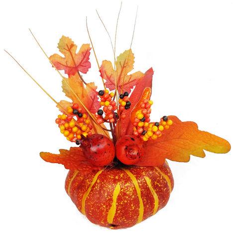 Halloween Pumpkin Decorations Artificial Lifelike Maple Leaf size B