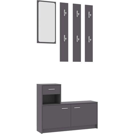 Hallway Unit Grey 100x25x76.5 cm Chipboard