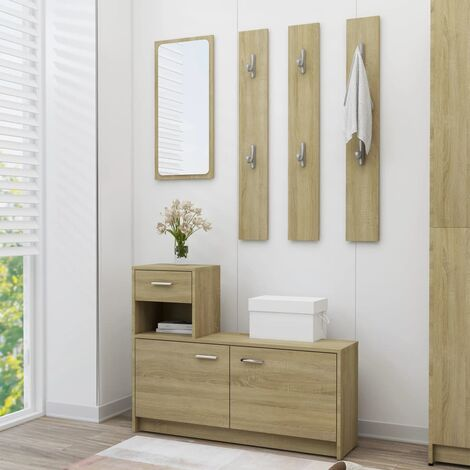 Hallway Unit Sonoma Oak 100x25x76.5 cm Chipboard