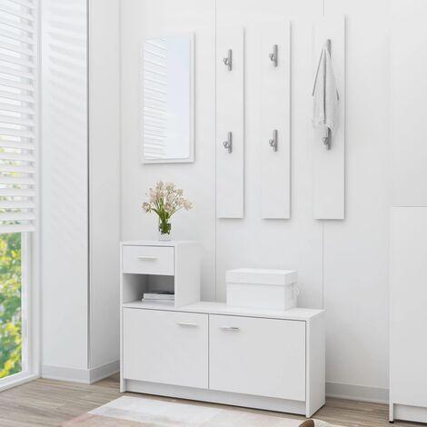 Hallway Unit White 100x25x76.5 cm Chipboard