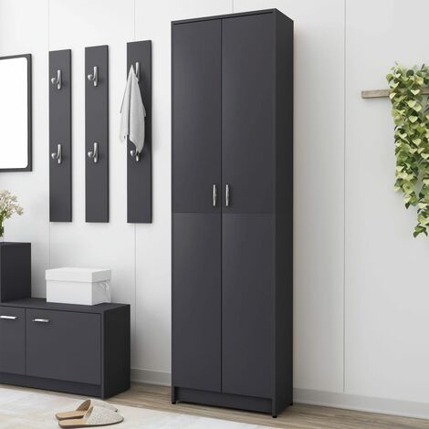 Hallway Wardrobe Grey 55x25x189 cm Chipboard