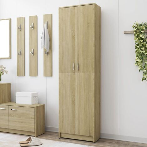 Hallway Wardrobe Sonoma Oak 55x25x189 cm Chipboard