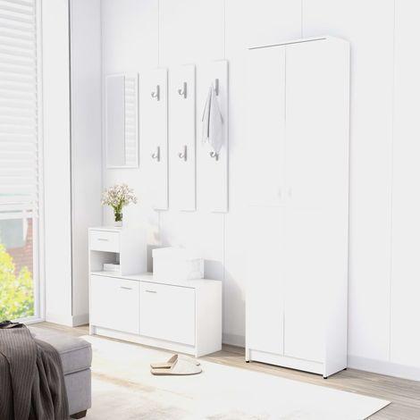 Hallway Wardrobe White 55x25x189 cm Chipboard