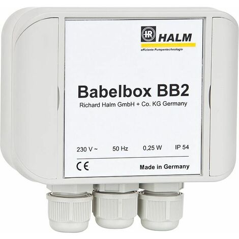 Halm HEP BB2 25-4,0 E180 Babelbox + pompe PWM, DN25, longueur 180 mm, 230V/50Hz