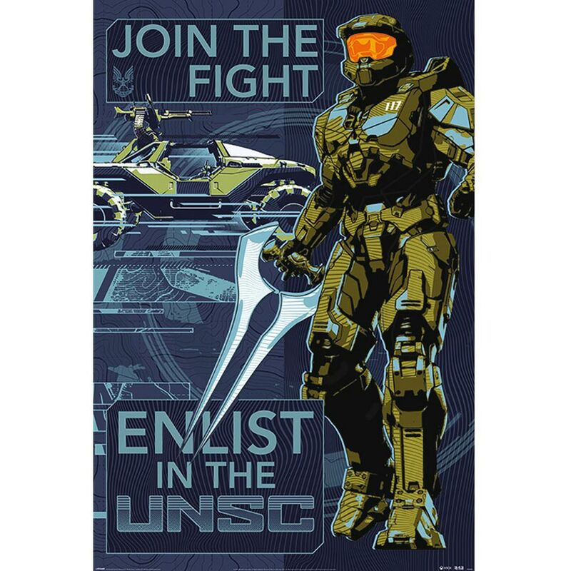 Image of Halo Join The Fight Poster (One Size) (Multicoloured)