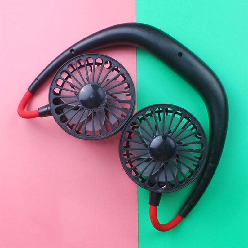 Asupermall Halter emissione ventilatore USB mini ventilatore ventilatore portatile ventilatore nero