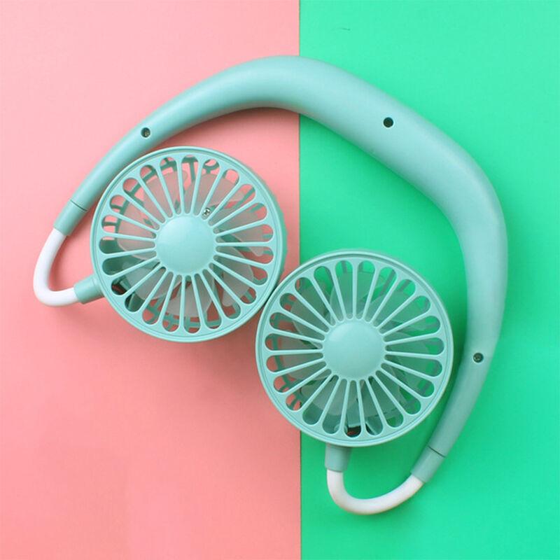 Halter USB ventilatore mini ventilatore ventilatore portatile che emette ventola blu ASUPERMALL