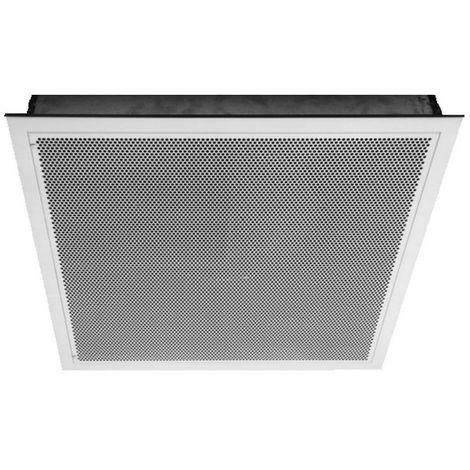 Halton cuadrada 60x60cm difusor de aire de techo - perforado frontal - 54x54cm empotrado - Blanco
