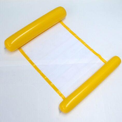 Hamac à eau pour piscine adulte matelas gonflable piscine pour adultes et enfants jaune