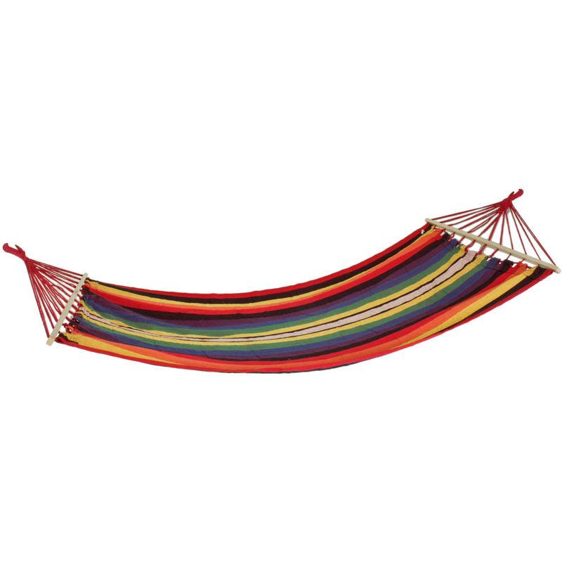 Tige suspendue tapis chaise jardin camping bois textile chaise longue mobilier d'extérieur multicolore Harms 507019