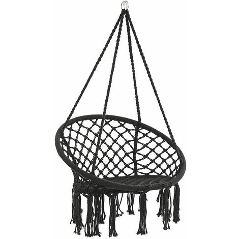 Hamac chaise en macram¨¦ corde suspendue balan?oire si¨¨ge doux jardin ext¨¦rieur int¨¦rieur