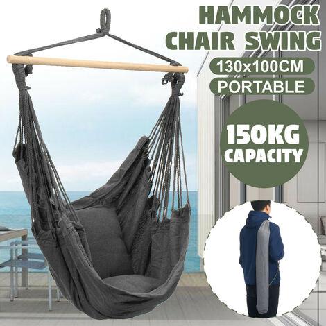 "main image of ""Hamac Chaise Suspendue Balan?oire Intérieure Gland De Camping En Plein Airtype 1 avec oreiller"""