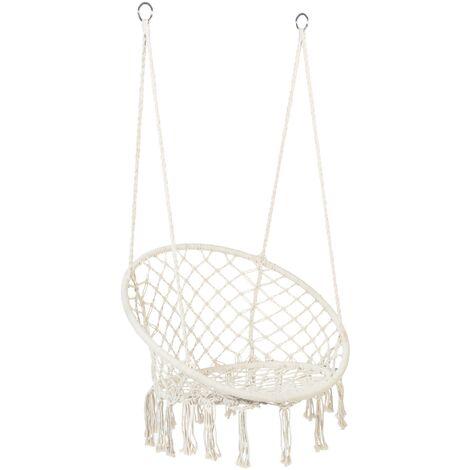"""main image of """"Hamac chaise suspendue design bohème macramé 1 personne"""""""