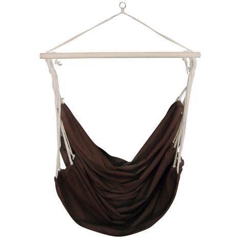 Hamac couleur marron 185 x 125 cm