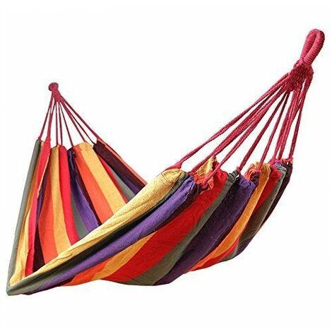Hamac de jardin transat bain de soleil 300 kg multicolore - Multicolore