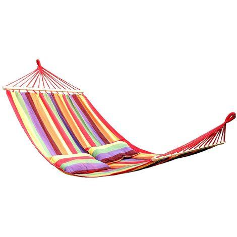 Hamac de jardin transat bain de soleil multicolore 300 kg
