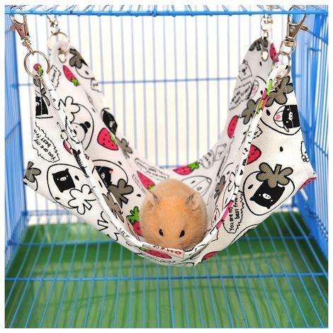 Hamac de toile d'animal familier gentil et chaud de chat hamster Mat lit familier, moyen, taille: 33 * 30cm, livraison aléatoire