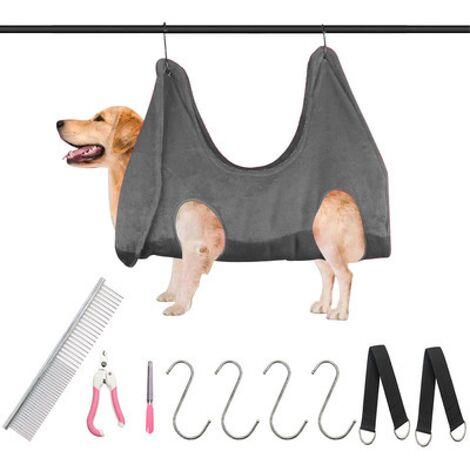 Hamac de toilettage pour chiens, assistant de hamac pour animaux de compagnie pour chiens et chats, sac de harnais de retenue pour animaux de compagnie pour chien coupe-ongles pour bain de chat