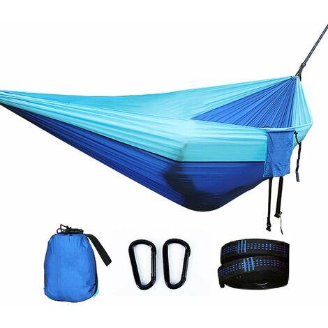 Hamac de Voyage Camping - Hamac 2 Places ou Simple , Hamac Suspendu, Hamac Ultra-léger, Hamacs de jardin, Kit de Survie, Sac à Dos, Hamac de Camping