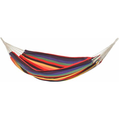 Hamac de voyage respirant portable toile de hamac dim. 2,9L x 1,5l m sac transport coton polyester multicolore
