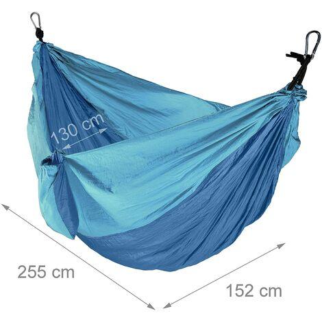 Hamac de voyage ultra léger charge 200 kg bleu - Bleu