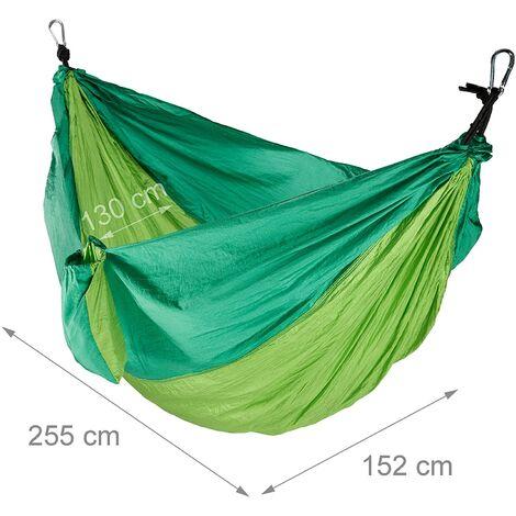 Hamac de voyage ultra léger charge 200 kg vert clair - Vert