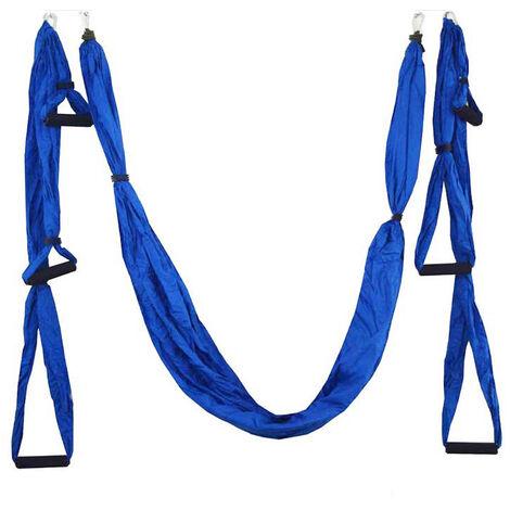 Hamac De Yoga Aerien Interieur Anti-Gravite, Hamac De Fitness, Bleu Fonce