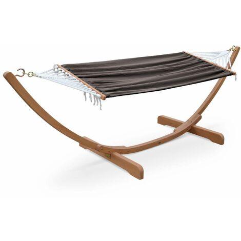 Hamac en bois 317x100cm avec toile en coton, Hamaca