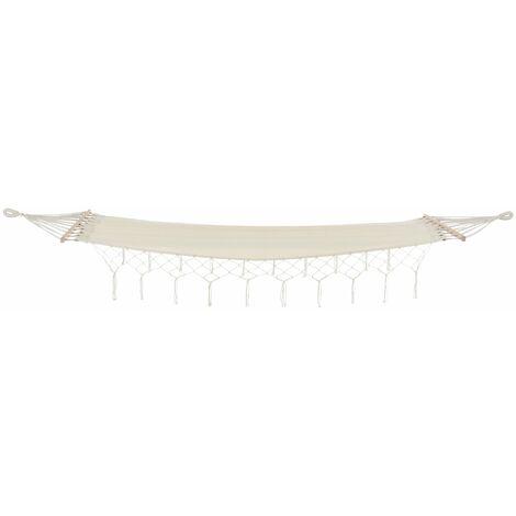 Hamac fauteuil suspendu avec cordes tressées jusqu'à 150 kg 200 cm crème - Crème