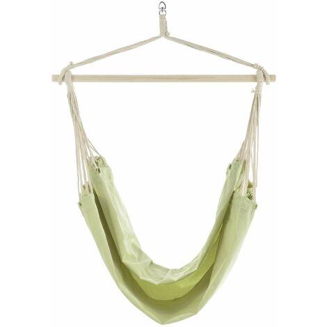 Hamac fauteuil suspendu chaise jusqu'à 150 kg pour poil de chameau vert - Vert