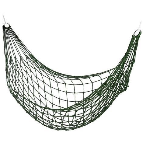 Hamac filet, de jardin pour une personne, camping, léger pour intérieur et extérieur,vert