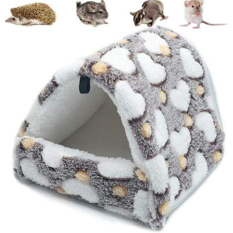 Hamac pour Petit Animal hamac pour Petits Animaux Maison chaleureuse pour Lapin Hamster Chinchilla Cochon d'Inde Marron M