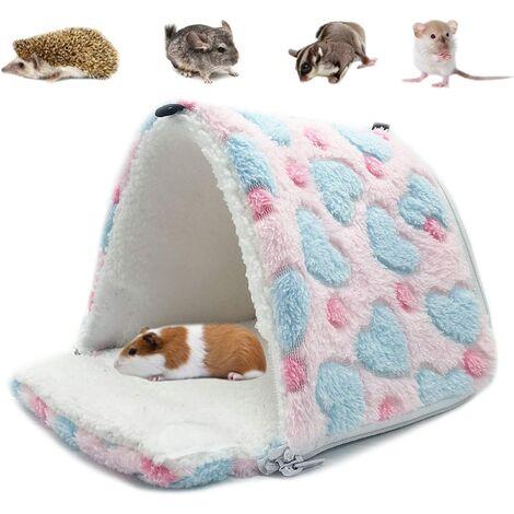 Hamac pour Petit Animal hamac pour Petits Animaux Maison chaleureuse pour Lapin Hamster Chinchilla Cochon d'Inde Rose S