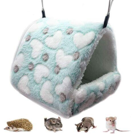 Hamac pour Petit Animal hamac pour Petits Animaux Maison chaleureuse pour Lapin Hamster Chinchilla Cochon d'Inde Vert L